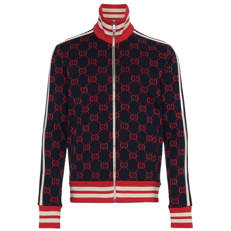 Gucci Jacquard Tracksuit Jacket (Red/Navy)