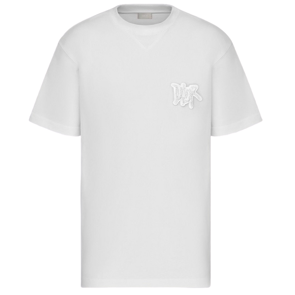 Dior X Stussy Logo Patch T-shirt (White)