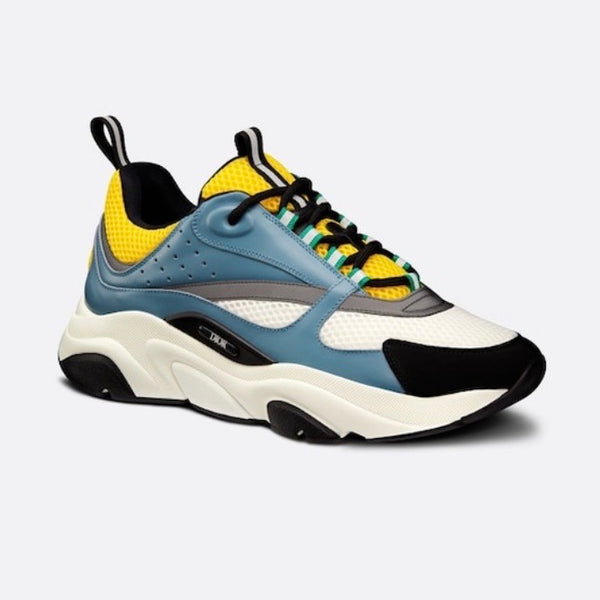 Dior B22 Reflective Trainers (Blue/Yellow)