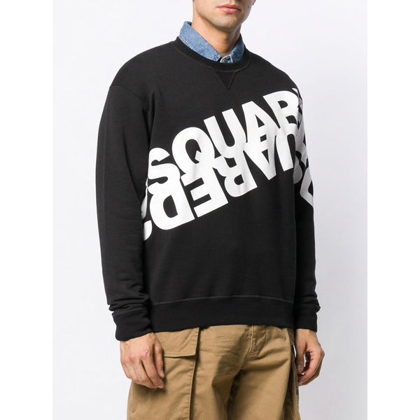 DSQUARED2 Double Logo Jumper (Black/White)