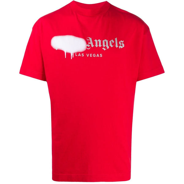 Palm Angels Las Vegas Spray Paint T-shirt (Red/White)