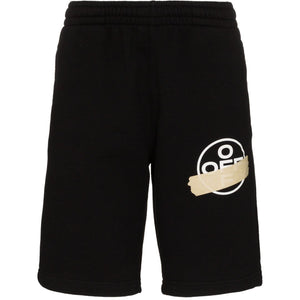 Off-White Tape Arrows Track Shorts (Black/Beige)