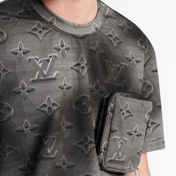 Louis Vuitton Monogram 3D Effect T-shirt (Grey)