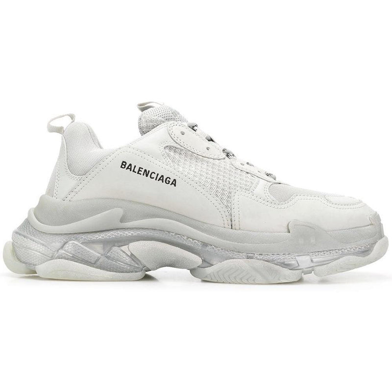 Balenciaga Triple S Clear Sole Trainers (White/Grey)