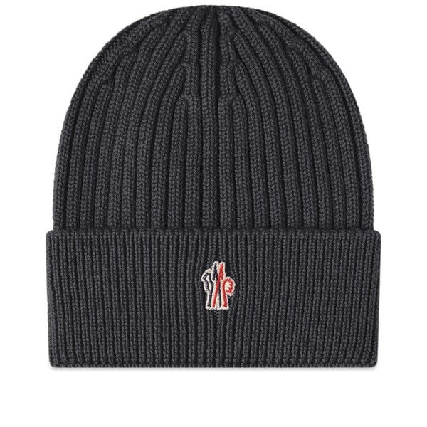Moncler Grenoble Rib Beanie (Charcoal Grey)
