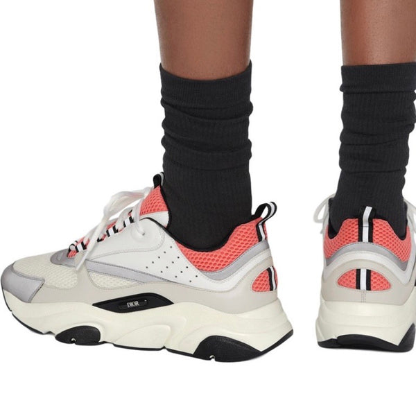 Dior B22 Reflective Trainers (White/Pink)