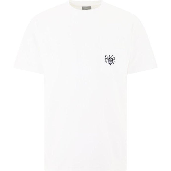 Dior X Stussy Embroidered Bee T-shirt (White)