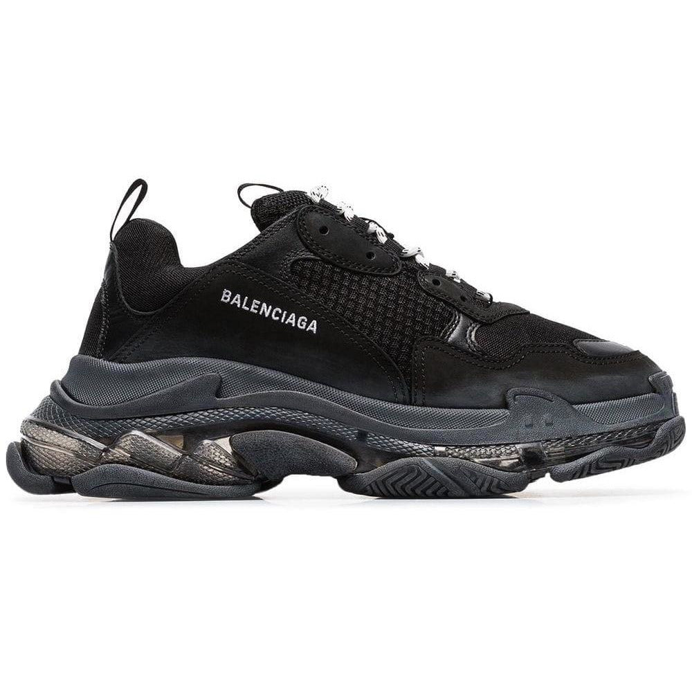Balenciaga Triple S Distressed Sole Trainers (Black)