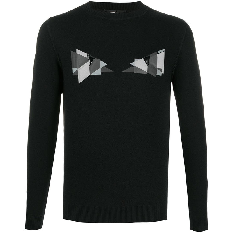 Fendi Cubic Eyes Motif Jumper (Black)