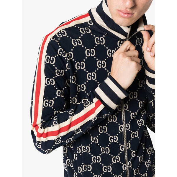 Gucci Jacquard Tracksuit Jacket (Blue/Red)