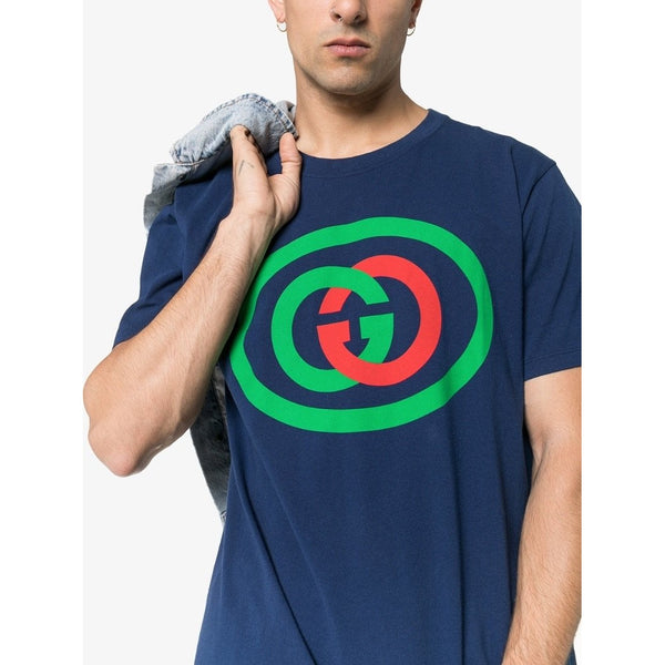 Gucci Oversized Interlocking G T-shirt (Blue)
