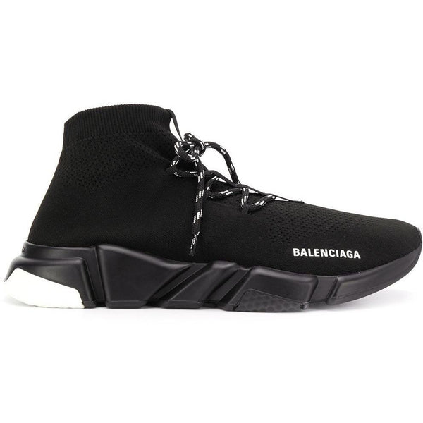 Balenciaga Speed Lace-Up Trainers (Black/White)