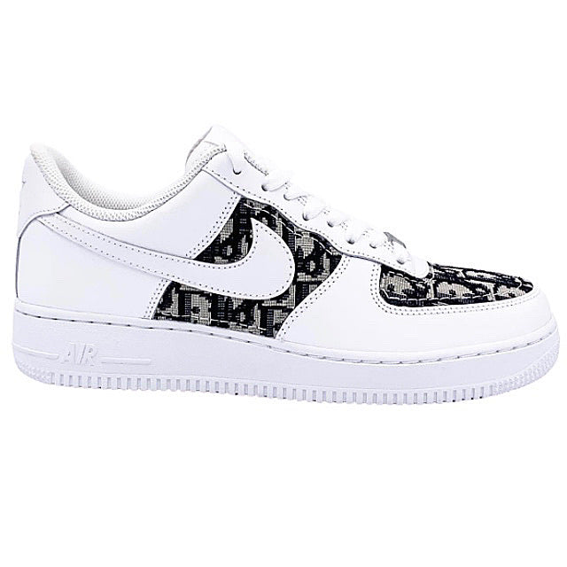 Nike X Dior Oblique Custom AF1 Trainers (White)