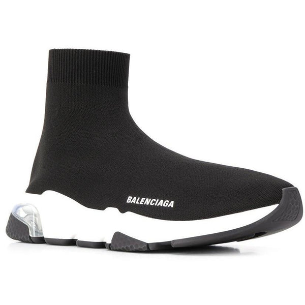 Balenciaga Speed Clear Sole Trainers (Black)