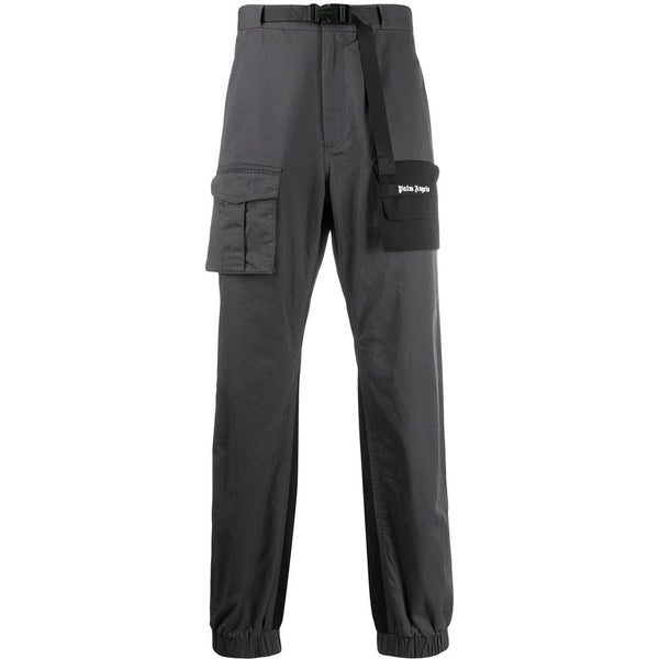 Palm Angels Two-Tone Cargo Trousers (Grey/Black)