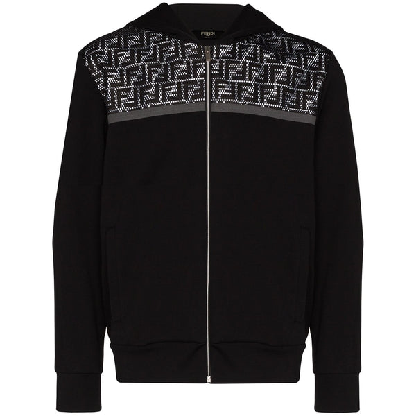 Fendi Reflective Logo Panel Hoodie (Black)