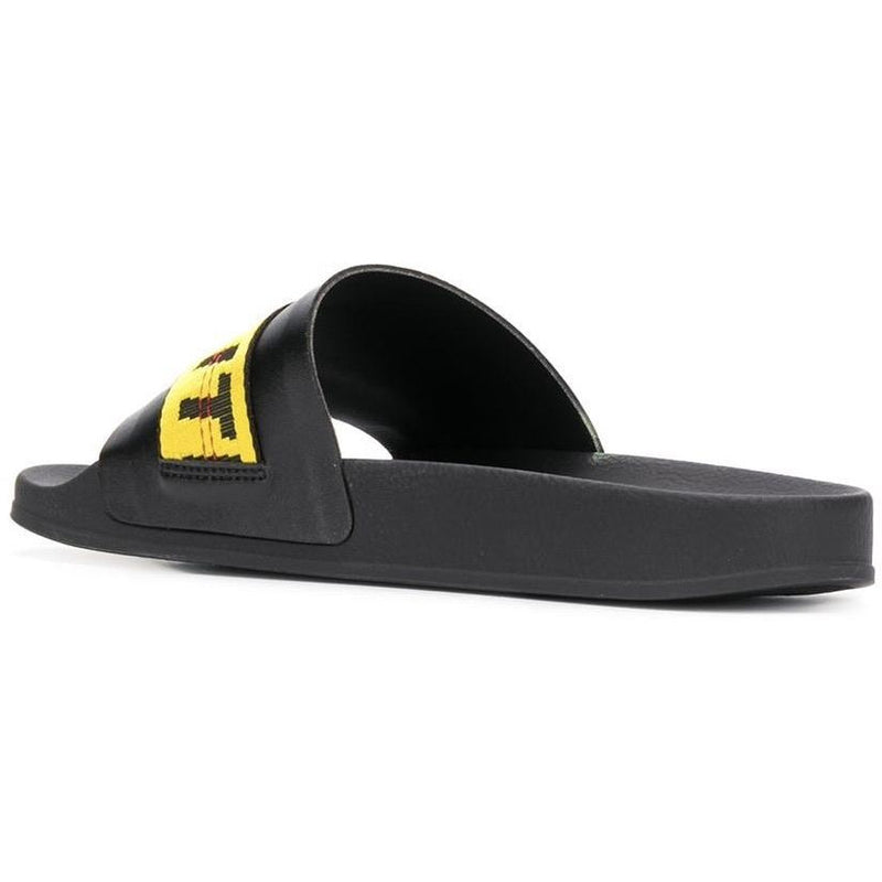 Off-White Industrial Sliders (Black/Yellow)