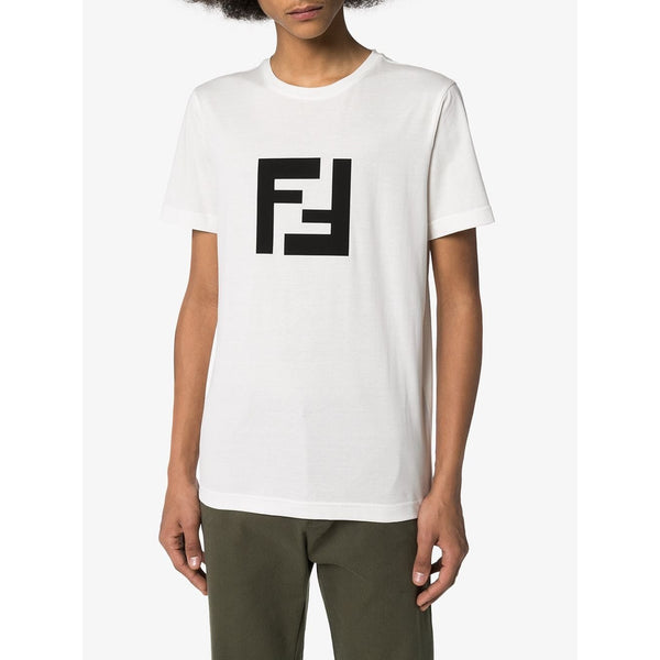 Fendi FF Logo Patch T-shirt (White)