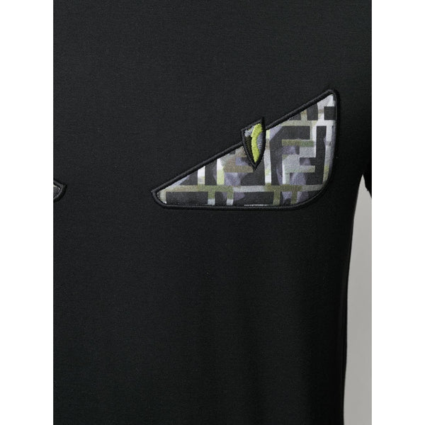 Fendi Bag Bugs Camo Eyes T-shirt (Green/Black)