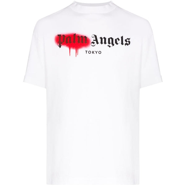 Palm Angels Tokyo Spray Paint T-shirt (White/Red)