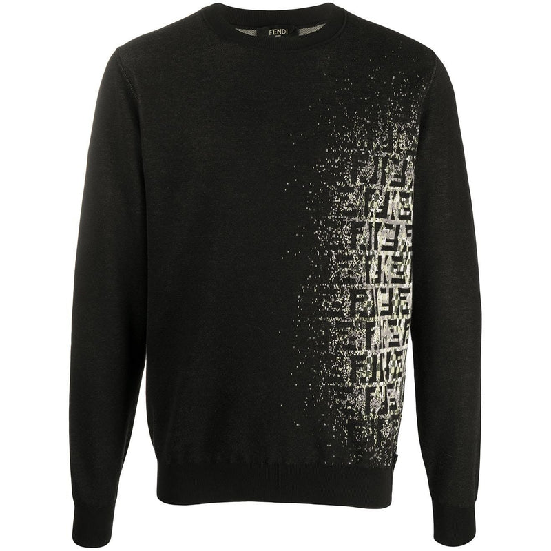 Fendi Faded FF Logo Jumper (Black)