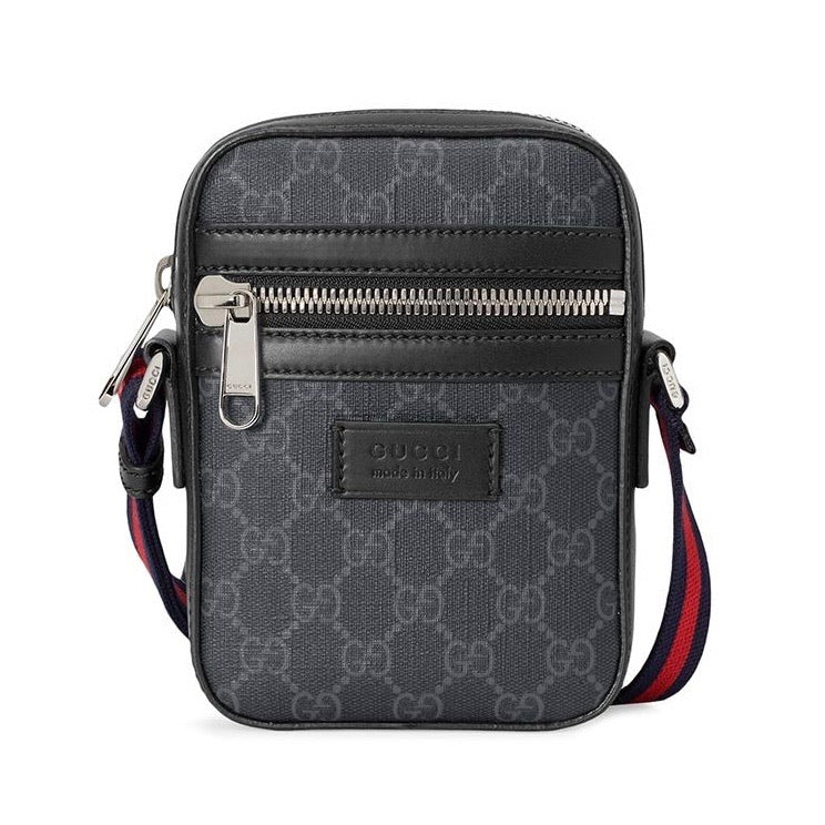 Gucci GG Supreme Messenger Bag (Black)