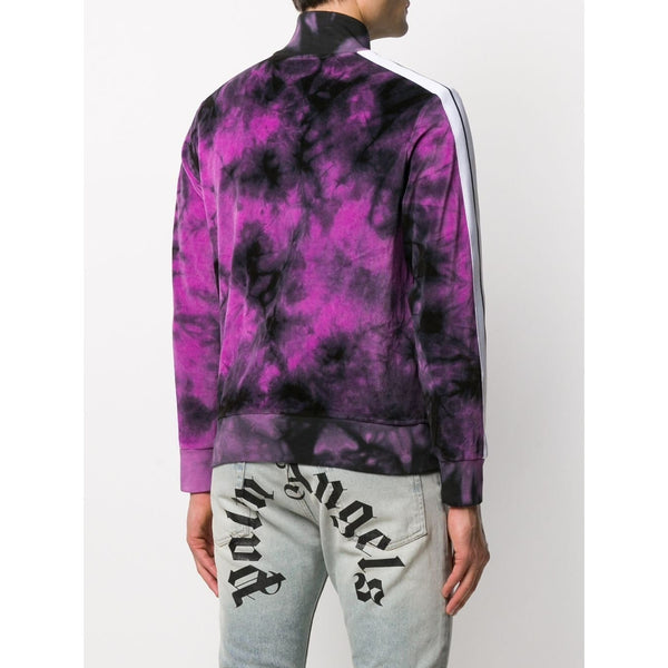 Palm Angels Tie Dye Tracksuit Jacket (Black/Purple)