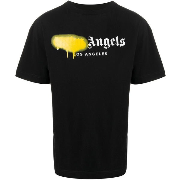 Palm Angels Los Angeles Spray Paint T-shirt (Black/Yellow)