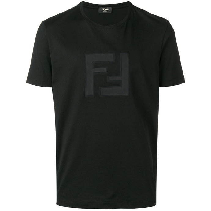 Fendi FF Logo Patch T-shirt (Black)
