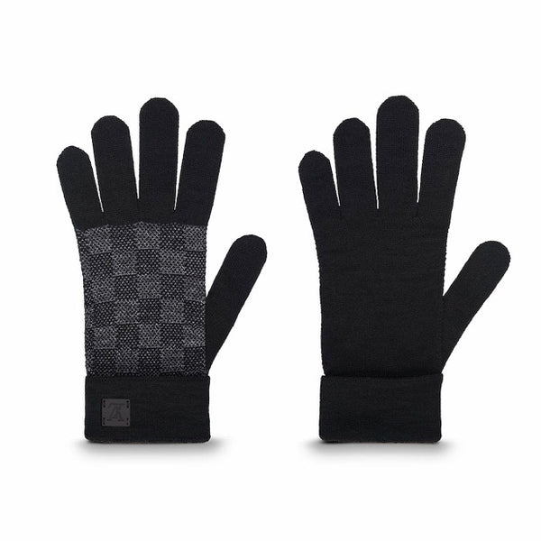 Louis Vuitton Petit Damier Gloves (Graphite)