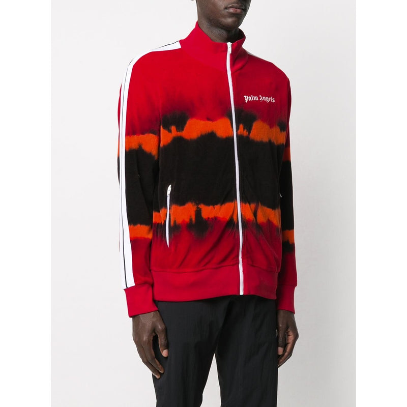 Palm Angels Tie Dye Tracksuit Jacket (Red/Orange/Black)