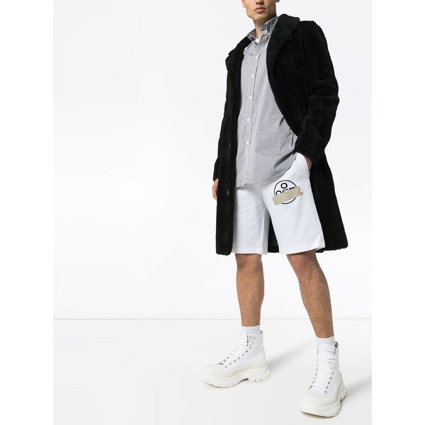 Off-White Tape Arrows Track Shorts (White/Beige)