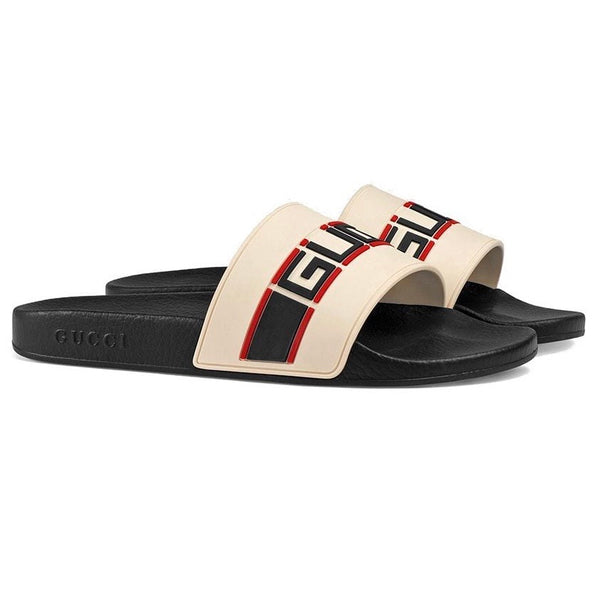 Gucci Pursuit Sport Sliders (White/Red/Black)