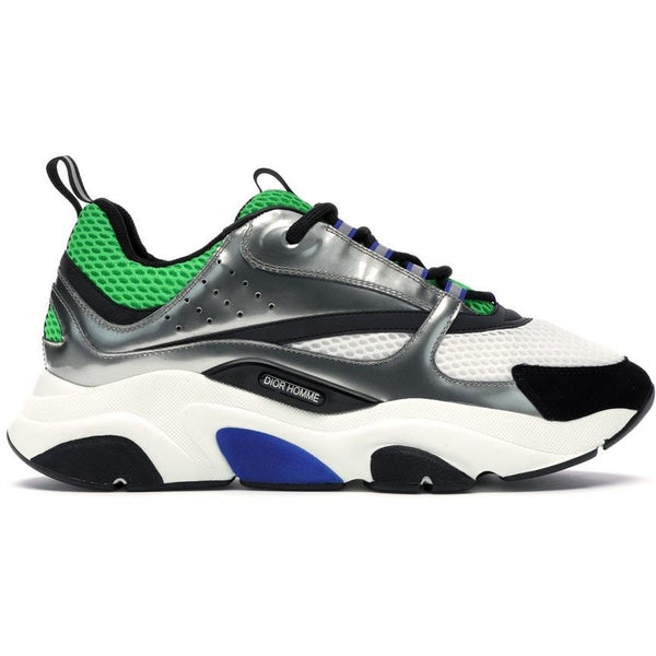 Dior B22 Reflective Trainers (Green/Silver)