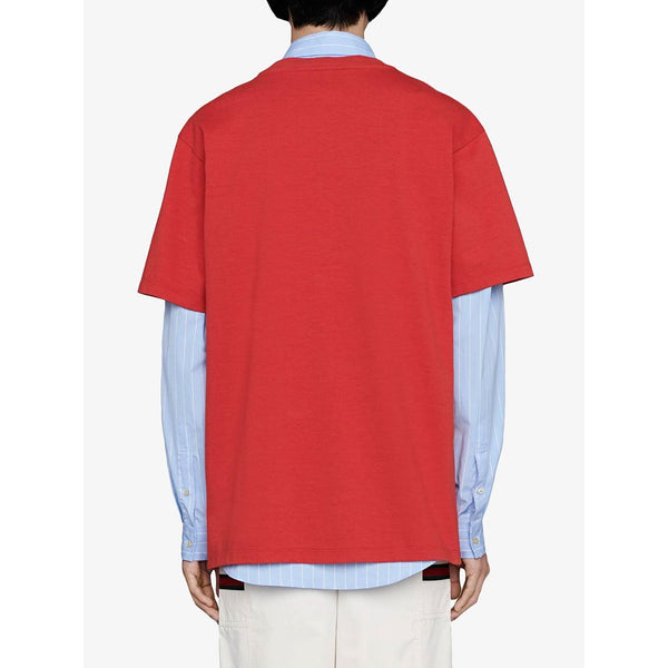 Gucci Vertical Logo Print T-shirt (Red/White)
