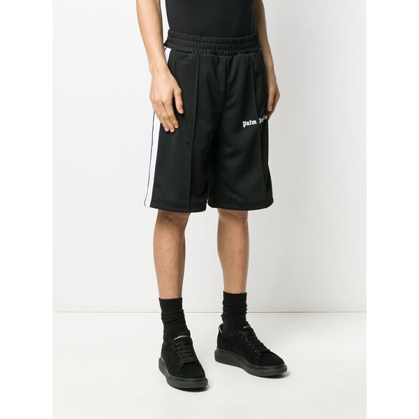 Palm Angels Logo Print Track Shorts (Black)