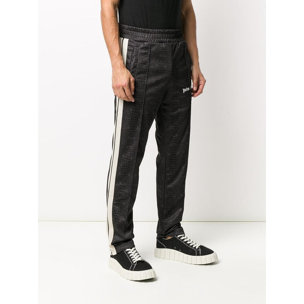 Palm Angels Crocodile-Print Track Pants (Brown)