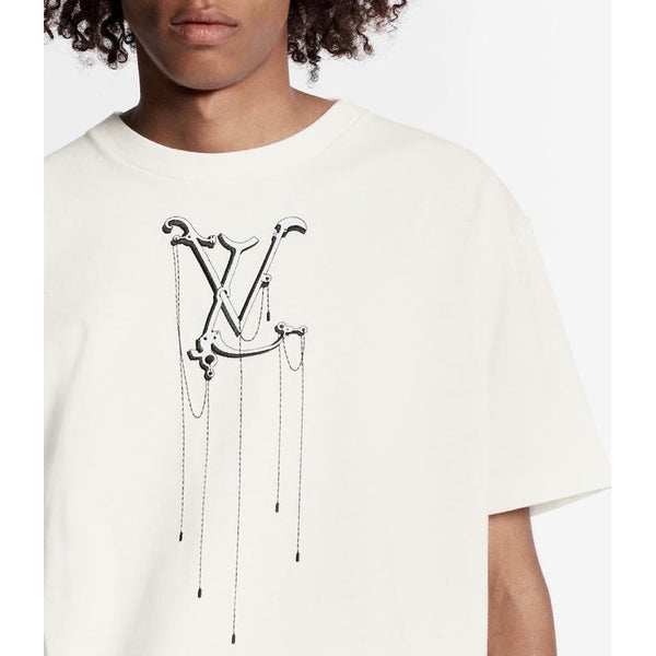 Louis Vuitton Pendant Embroidery T-shirt (White)