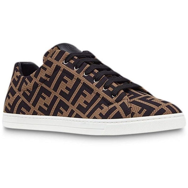 Fendi FF Motif Trainers (Brown/Black)