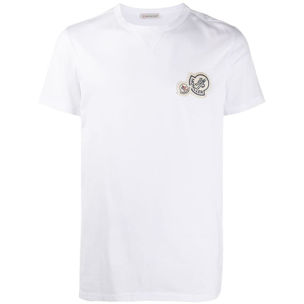 Moncler Logo Patch T-shirt (White)