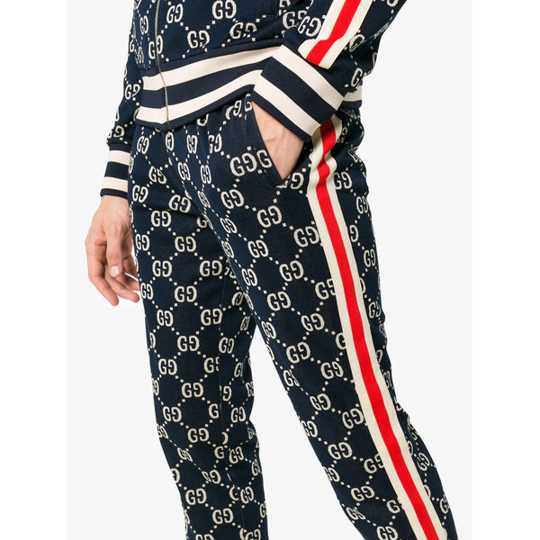 Gucci Jacquard Tracksuit Pants (Blue/Red)