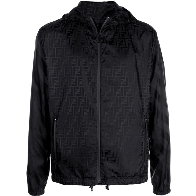 Fendi FF-Print Hooded Jacket (Black)