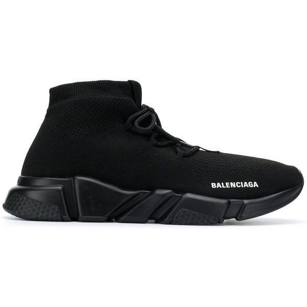 Balenciaga Speed Lace-Up Trainers (Triple Black)