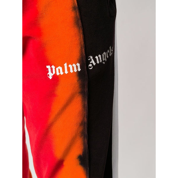 Palm Angels Tie Dye Tracksuit Pants (Red/Orange/Black)