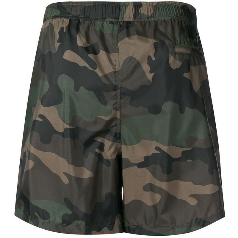 Valentino Camo Print Shorts (Green/Black)
