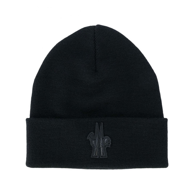 Moncler Grenoble Logo Patch Knitted Beanie - Moretti Menswear