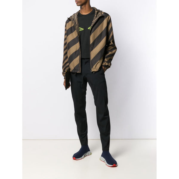 Fendi Reversible FF Logo Windbreaker (Brown)