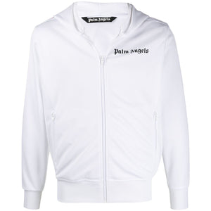 Palm Angels Hooded Tracksuit Jacket (White)