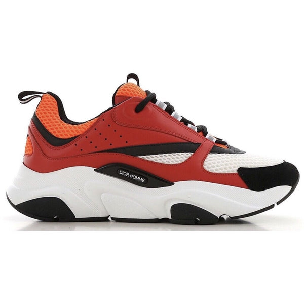 Dior B22 Trainers Red/Orange/White