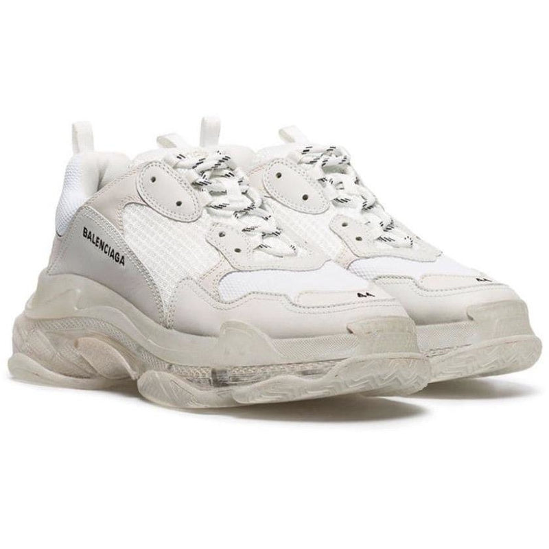Balenciaga Triple S Clear Sole Trainers (White)